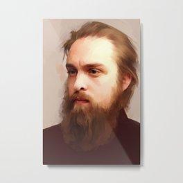 The Beard Metal Print