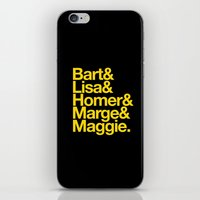 simpsons iPhone & iPod Skins featuring Simpsons by Outside In