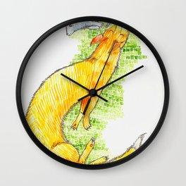 Fox Chasing Rabbit Wall Clock