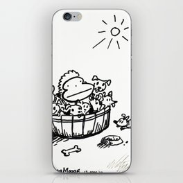 Ape in a Bushel of Puppies iPhone Skin
