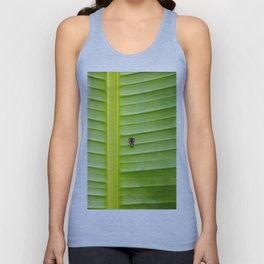 Alone on the leaf. Unisex Tank Top