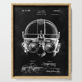 Welding Goggles Blueprint Serving Tray