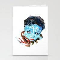hindu Stationery Cards featuring Hindu Boy by Cristian Blanxer