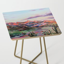 Tucson Sunset by the Catalina foot hills - Thimble peak Side Table