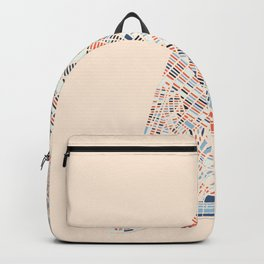 New York City Colorful Map-Manhattan Backpack