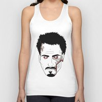 robert downey jr Tank Tops featuring Zombie Robert Downey Jr. by Roman Jones