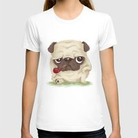pug T-shirts featuring Pug by Toru Sanogawa