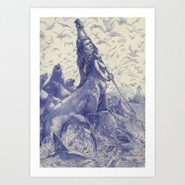 Sea Lion Centaur Art Print