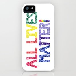 Rainbow Henna Zendoodle All Lives Matter! iPhone Case