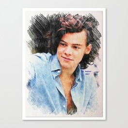 Harry Styles, One Direction, 1D, 1dFanArt Canvas Print