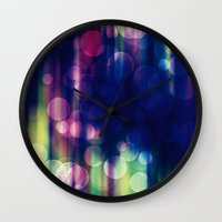 magical girl Wall Clocks featuring Magical Girl Blue by Misi