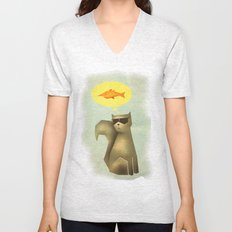 Fish and Chips Unisex V-Neck