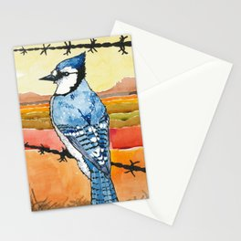 Blue Jay in the Desert Stationery Cards