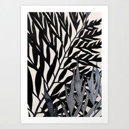 #leaf #wall #plants Art Print