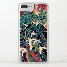 snowdrops Clear iPhone Case