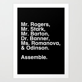 Tribute 1 - Avengers Art Print