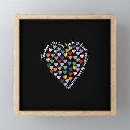Hearts Heart Teacher Black Framed Mini Art Print
