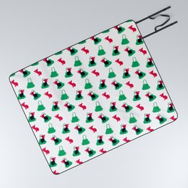 Angry animals: chihuahua - little green bag Picnic Blanket