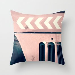 Road Roller Chevron - Industrial Abstract (everyday 17.01.2017) Throw Pillow
