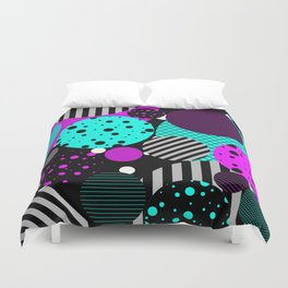 Circles, Bubbles And Stripes Duvet Cover