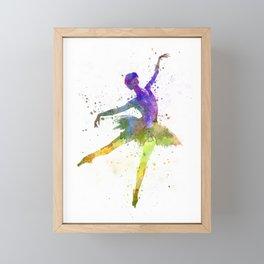 woman ballerina ballet dancer dancing Framed Mini Art Print