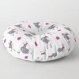 Sloth Music Llama Floor Pillow