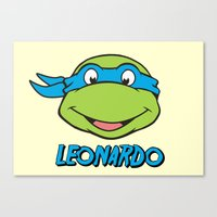 leonardo Canvas Prints featuring Leonardo by husavendaczek