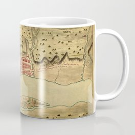 Map Of Albany 1758 Coffee Mug