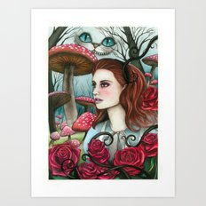 Alice in W-land Art Print