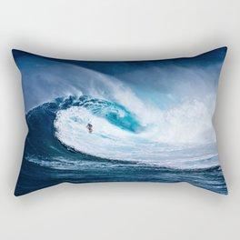 Wave Series Photograph No. 5 - Thirty Foot Roller Rectangular Pillow