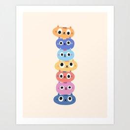 Cat Stack Art Print