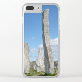 Calanais Standing Stones Clear iPhone Case