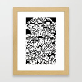 Friendly Faces  Framed Art Print
