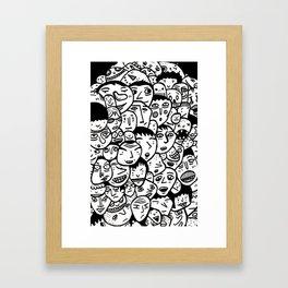 Friendly Faces  Framed Art Print