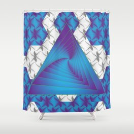 The Winding Stairs of Infinity Shower Curtain