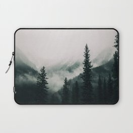 Over the Mountains and trough the Woods -  Forest Nature Photography Laptop Sleeve