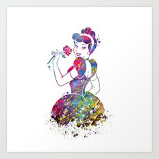 Princess Cinderella  Art Print
