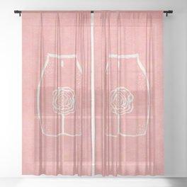 La Vie En Rose Sheer Curtain