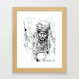 Berber woman Framed Art Print