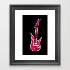 pink guitar Framed Art Print