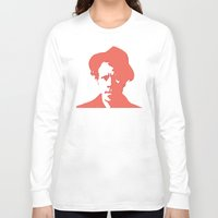 tom waits Long Sleeve T-shirts featuring Tom Waits in Red by JennFolds5 * Jennifer Delamar-Goss