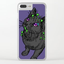 Starry-Eyed Galileo Clear iPhone Case