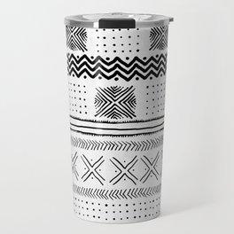 Mud Cloth Geometric Stripe Travel Mug