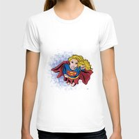 supergirl T-shirts featuring Supergirl by WaterFly Studio