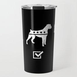 VOTE BOXER Travel Mug