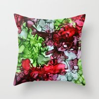tmnt Throw Pillows featuring TMNT by Claire Day