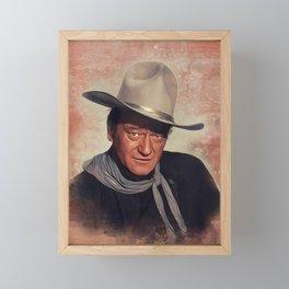 John Wayne, Actor Framed Mini Art Print