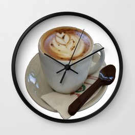 Americano Coffee Vector Wall Clock