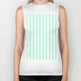 Cabana Stripes in Mint Biker Tank