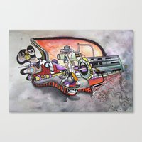 technology Canvas Prints featuring Technology System1 by infloence